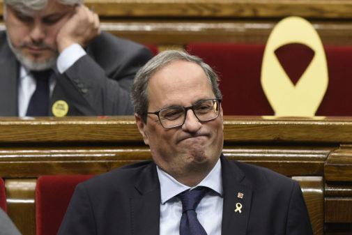 El presidnete de la Generalitat, Quim Torra, en el Parlament.