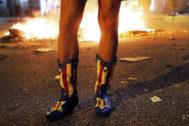 Las botas de Toni están a la venta por 600 euros.