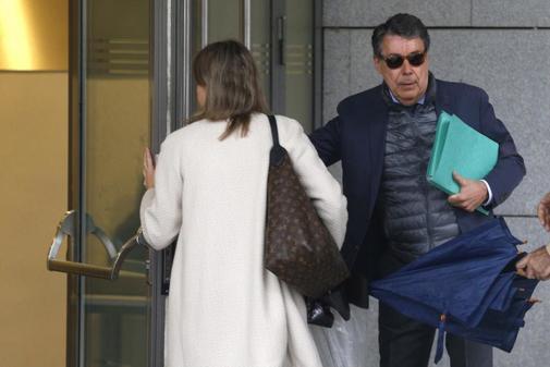 Ignacio González, a su llegada a la Audiencia Nacional para...