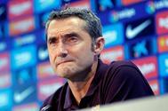 Ernesto Valverde, técnico del Barcelona.