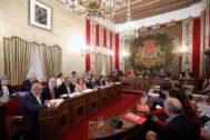 El pleno del Ayuntamiento de Alicante, ayer.