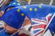 Manifestantes antiBrexit en Bruselas.