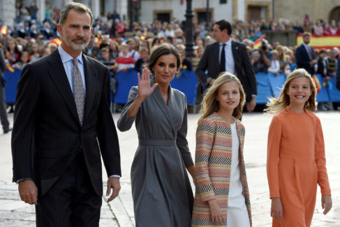 Spanish royal family visits Cathedral in Oviedo