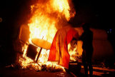 De los ultras en la protesta antiindependentista al fuego, las cargas  y las barricadas