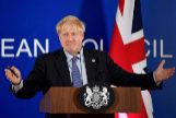 El primer ministro británico, Boris Johnson, en la cumbre de Bruselas.