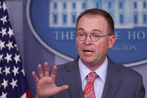 Mulvaney, during the press conference at the White House.