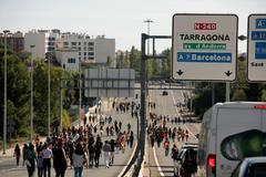Manifestación de estudiantes en Tarragona.
