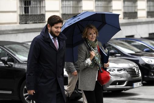 Esperanza Aguirre, a su llegada a la Audiencia Nacional para declarar...