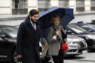 Esperanza Aguirre, a su llegada a la Audiencia Nacional para declarar por el 'caso Púnica'.