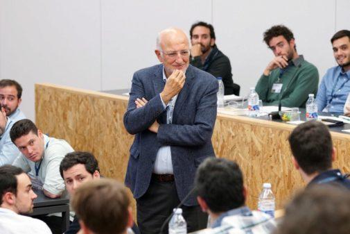 El presidente de Mercadona, Juan Roig, durante un encuentro con emprendedores.