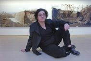 Montserrat Soto en una exposición en la Galería Horrach Moyà de Palma de Mayorca.