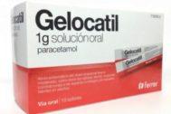 Sanidad retira un lote de Gelocatil de 1 gramo comercializado como si fuera de 650 miligramos