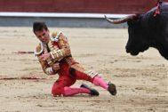 Gonzalo Caballero cayó herido en el tradicional festejo del Día de la Hispanidad