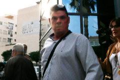 Jesús Tavira, esta mañana, a la salida del juicio.