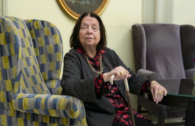 La escritora brasileña Nélida Piñón, esta semana en el Hotel Palace de Madrid.