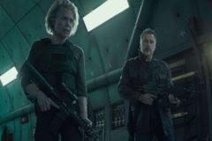 Linda Hamilton en un fotograma de 'Terminator: destino oscuro'