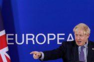 El primer ministro Boris Johnson, ayer, en Bruselas.
