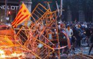 El centro de Barcelona, este viernes tras la manifestación.