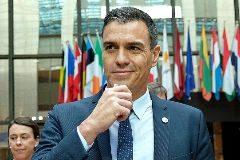 El presidente del Gobierno en funciones, Pedro Sánchez, este viernes, en Bruselas.