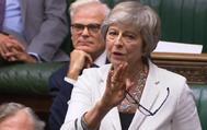 La primera ministra británica, Theresa May, en el Parlamento.