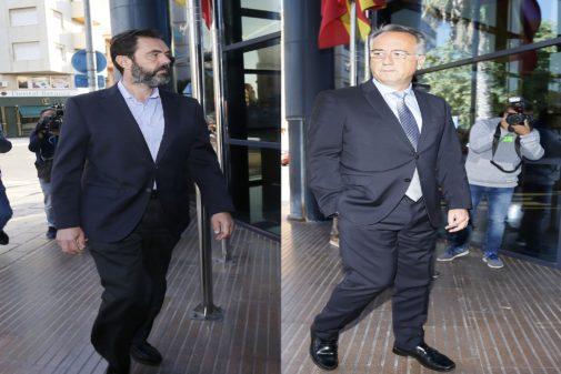 A la izquierda Miguel López, acusado del crimen, y a la derecha Vicente Sala Martínez.