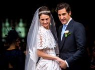 Paris (France).- Prince <HIT>Jean-Christophe</HIT> <HIT>Napoleon</HIT> (R) and Countess Olympia Arco-Zunneberg (L) leave after their wedding ceremony at the Saint-Louis-des-Invalides cathedral at the Invalides National Hotel in Paris, France, 19 October 2019. (Francia) EPA/<HIT>CHRISTOPHE</HIT> PETIT TESSON