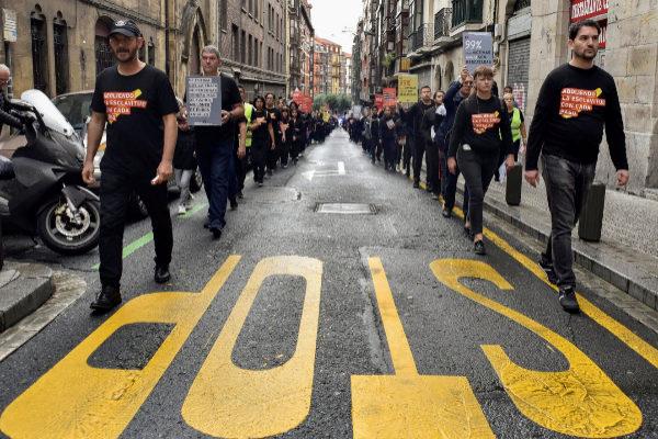 Un momento de la marcha contra la trata de personas.
