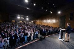 El presidente del PP, Pablo Casado, se dirige a alcaldes 'populares' de toda España, reunidos, este sábado, en Valladolid.