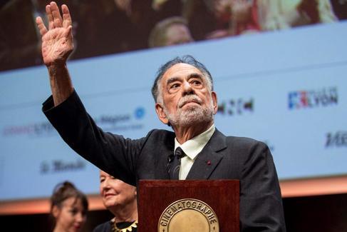 Francis Ford Coppola recoge el sábado en Lyon el Premio Lumiére a toda la carrera.