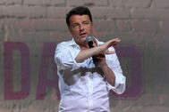 Florence (Italy).- Former Italian Prime Minister and Founder of Italian party Italia Viva Matteo <HIT>Renzi</HIT> speaks at the event Leopolda 10 in Florence, Italy, 18 October 2019. Leopolda is a former train station, the venue for Matteo <HIT>Renzi</HIT>'s annual three-day political brainstorming event. (Italia, Florencia) EPA/
