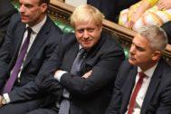 El primer ministro británico, Boris Johnson, este sábado en Westminster.