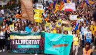 Manifestación en Palma contra la sentencia del Procés