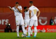 Benzema y Jovic hablan en Son Moix.