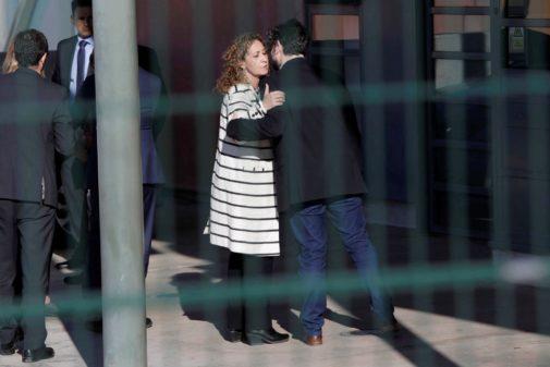 La consejera de Justicia catalana, Ester Capella, a su llegada a la...