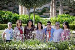 Bel De la Cruz, Amparo Medina, Almudena García, Soraya Mendoza, Guiomar Lliatas, Lola Navarro y Beatriz Muñiz, siete mujeres que conviven con el cáncer de mama metastásico.