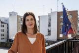 Noelia Posse, alcaldesa de Móstoles, en la terraza de su despacho.