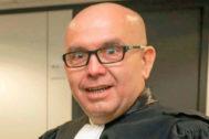 Gonzalo Boye en la primera vista sobre la querella contra Llarena ante la juez belga.