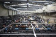 Interior de una fábrica en Aranda de Duero.