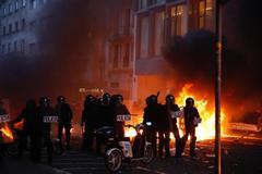 Una de las jornadas de violencia que se ha vivido en Barcelona tras conocerse la sentencia del juicio del procés.
