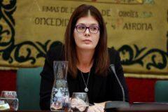 La alcaldesa de Móstoles, Noelia Posse, este lunes en el Pleno.