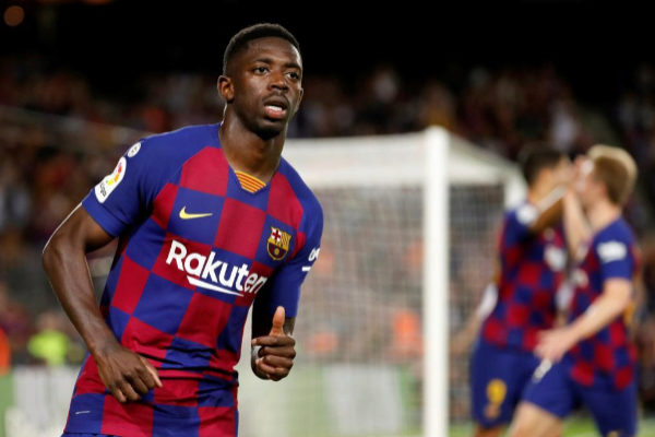 El delantero del FC Barcelona, Ousmane Dembélé