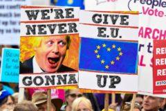 Protestas en Londres a favor de la permanencia en la UE.