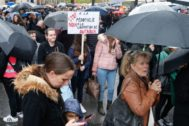 Marcha para protestar por la liberación de Marc Dutroux.
