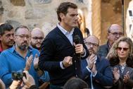Albert Rivera, durante un acto de Ciudadanos en Toledo.