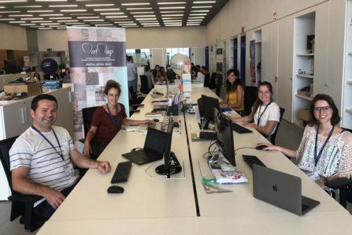 Marc Alemany, Estefanía Vivancos, Consuelo López, Laura Granero y María Martínez, forman el equipo de Mat Map en Lanzadera.
