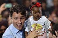 El primer ministro canadiense, Justin Trudeau, en un acto en Vancouver.