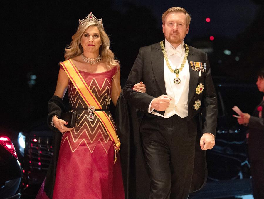 Máxima y Guillermo de Holanda - Cena de gala tras la entronización de Naruhito en Japón
