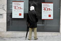 Oferta hipotecaria en una sucursal bancaria en Madrid.
