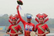 Enric Mas, tras ganar el Tour de Guangxi.
