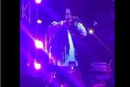 Tego Calderón, durante su concierto más polémico en Houston.